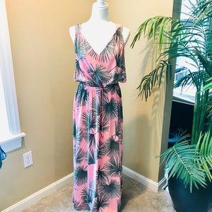 Maxi Tropical Print Dress XL
